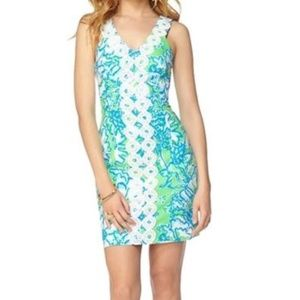 NEW Lilly Pulitzer Trudy Shift Dress Green Sz 2